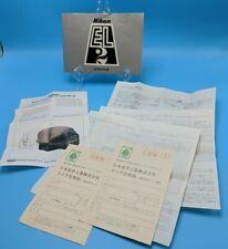 Nikon EL2 Film Camera Owner User Manual & Sales Receipt in JAPANESE