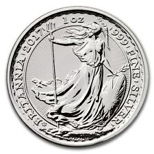 2017 British Britannia 20th Anniversary 1 oz Silver Limited BU Capsuled Coin