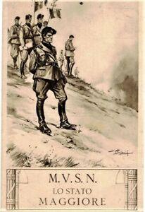 M V S N Lo stato maggiore La Milizia è Superfascismo Mussolini PC Viaggiata 1929