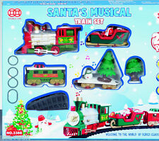 20 piezas Navidad Santa Santa's Musical Juguete Train Set Batería 131209