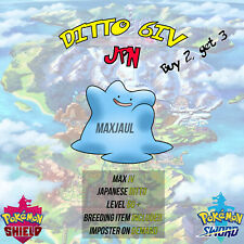 Ditto 6IV Sword & Shield Shiny JPN max IV/Adamant & Destiny Knot! FAST DELIVERY