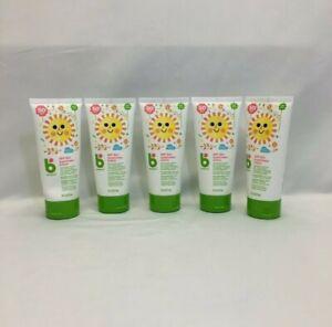 Babyganics Mineral-Based Baby Sunscreen SPF 50+ Fragrance Free 6oz Tube 5-Pack