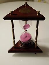 Colorful sand clock cherry wooden sandglass hourglass timer 10 minute home decor