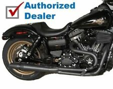 Black Thunderheader 2 into 1 2-1 Full Exhaust Pipe Header System 12+ Harley Dyna