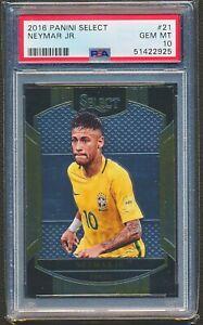 2016-17 Panini Select #21 Neymar Jr. Base PSA 10 Gem Mint Brazil 7J