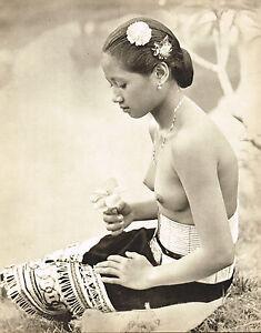 Original Vintage Asian Malaysian Female Nude Wong Photo Gravure Print
