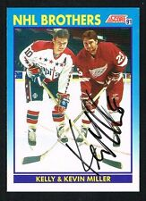 Kevin Miller #339 signed autograph 1991-92 Score Hockey Canadian Release Card