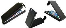 Para IPHONE 5 5S Smartphone Móvil Funda Cover Flip Case Negro