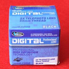 Digital Professional Lens. Deluxe Telephoto. 2x Telephoto. 58 mm Thread. Black.