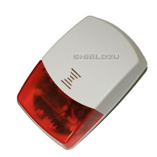 WIRELESS INDOOR STROBE SIREN WITH FLASH LED FOR AUTODIAL GAM ALARM, UK SELLER