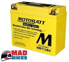 Motobatt Batería de la motocicleta GEL yt12b4,YT12BBS,ct12b4,ct12bbs 20%