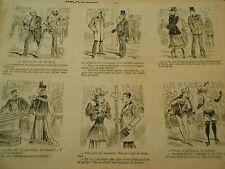 Caricature Vignettes La mode des chaussures Japonaises 1893
