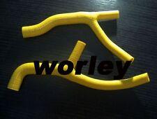 Yellow silicone radiator hose for SUZUKI DRZ400E DR-Z400E 2000 -2002 00 01 02