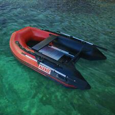 ALEKO Inflatable Raft Pontoon Boat With Aluminum Floor 8ft 4Inch Red/Black