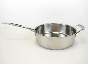 Cuisinart 3.5 Qt Stainless Steel Sauté Pan Model #733-24H w/Helper Handle No Lid
