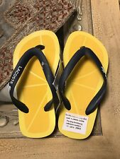 840c4eb15 New Lacoste Boys Girls Sz 13 Sandals Flip Flops Yellow Blue