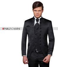 PABLO CASSINI Designer Herren Anzug Schwarz CUT Hochzeitsanzug Bräutigam PC_01