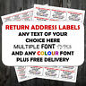 Personalised Label Business Stickers Self Adhesive 21 Or 65 Per Sheet