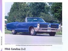 1966 Pontiac Catalina 2+2 Convertible 421 ci H.O. Tri Power info/photo/spec 11x8