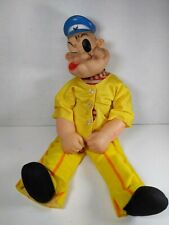 """Vintage 18"""" Rare King Features Popeye Doll Cloth body rubber head anchor arms"""