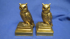 Vintage Wise Owl Bookends Philadelphia Manufacturing Co. with label