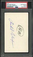 President Richard Nixon Signed 3x5 Index Card Autographed Psa/Dna Auto