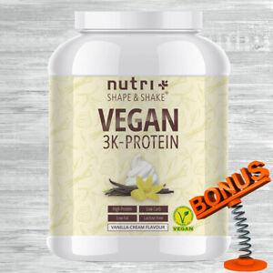 Nutri-Plus Shape & Shake Vegan 3K Protein 1kg Dose Nutriplus + Bonus