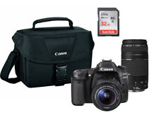 Canon EOS 80D DSLR Camera with 18-55mm / 75-300mm III Lens + 32GB PRO BUNDLE