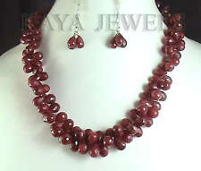 NATURAL FACETED RUBY BRIOLETTES BEADS STRAND 560ct