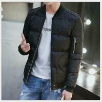 Men Warm Padded Down Coat Tops Winter Slim Casual Outerwear Jacket Blouse Coats