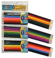 21x Artists Colouring Pencils Scented Metallic Rainbow Colour Children School