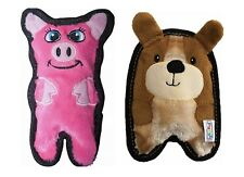 2-Pack-Outward Hound, Dog & Pig Squeaky, Stuffingless, Dog Toy Set-Free Shipping
