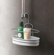 étagère de douche la salle bain paniers à accrochage Orbit Metaltex 403711322