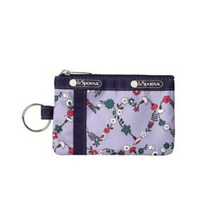 LeSportsac Classic Collection ID Card Case Wallet in Hudson Hearts Purple NWT
