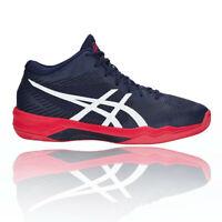 Asics Mens Volley Elite FF MT Court Shoes Blue Sports Handball Breathable