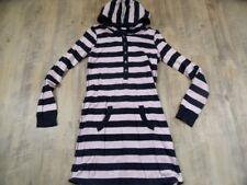 H&M cooles blau rosa gestreiftes Hoodie-Kleid Sweatkleid Gr. 170 TOP RC1117