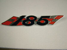 SUZUKI TS 185 R/J, '71, '72,   SIDE COVER BADGE, NEW CAST REPRODUCTION.