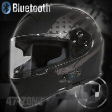 T14B Flat Black Flag  Full Face Motorcycle Bluetooth Helmet Street bike L