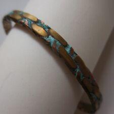 Bracelet femme homme bronze cuivre bijou Didier Guérin vintage France N4146