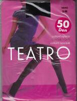 TEATRO COLLANT OPAQUE TIGHTS 50 DEN - NOIR - TAILLE 3 - M 100% NEUF