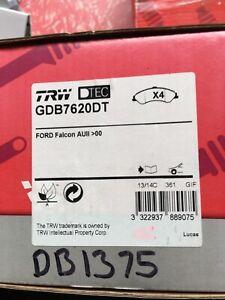 Ford Falcon 00-02 Fairlane 99-03 Front TRW Premium Brake Pads DB1375