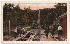Mt.Jefferson Plane Switch Back Railroad Mauch-Chunk PA Vintage Postcard