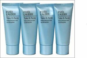 New Estee Lauder Take it Away Makeup Remover Lotion 4 x 1oz With Free Makeup Bag
