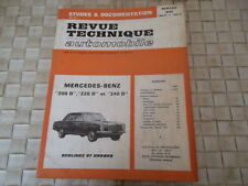 REVUE TECHNIQUE MERCEDES-BENZ 200 D à 240 D BERLINES ET BREAKS