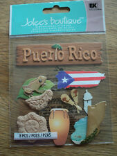 EK SUCCESS JOLEE'S BOUTIQUE PUERTO RICO DIMENSIONAL STICKERS BNIP