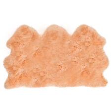 grande taille véritable beige doux Tapis peau de mouton fourrure cachette