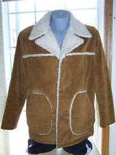 CAL CRAFT Brown Corduroy COAT Chore Ranch JACKET Sherpa Lined LARGE