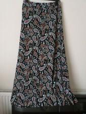 Sizes 8 or 10 Izabel Blue Polka Dot Party Office Midi Skirt with Belt NEW