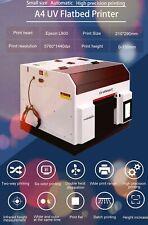 A4 inkjet flat printer. Print on bottles/cups, credit cards, golf balls, phone