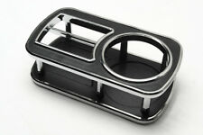 1Pcs Small Rectangle Black Chrome Edge Instrument Desk Table Cup Drink Holder